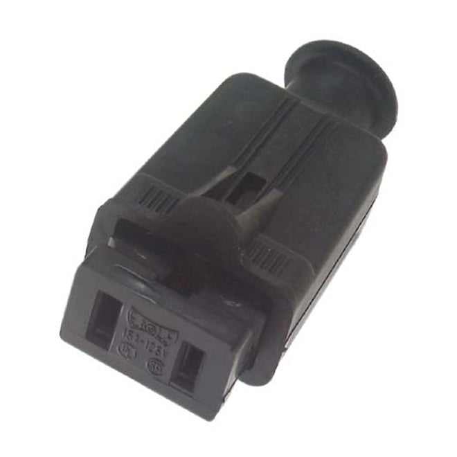 RUBBER PLUG BLACK 2 PIN FEMALE