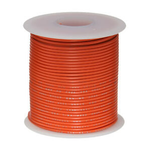 Hook Up Wire PVC,orange, 22 AWG, 100 FT