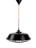 RENTAL - Black Aged Pendant Light with Metal Cage