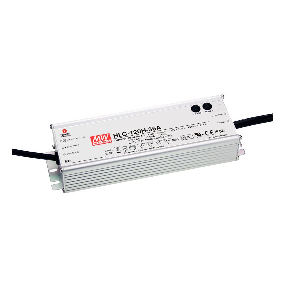 HLG IP65 Fanless & Metal Housed Supplies 12VDC 120W