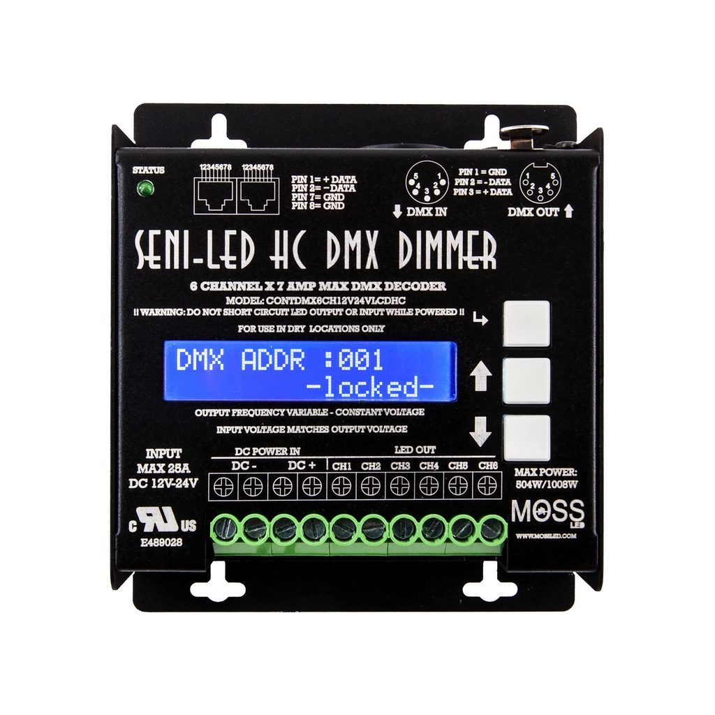 Seni-LED High Current DMX - 6 Channel Dimmer