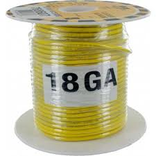 TEW 18AWG 98'(30M) YELLOW