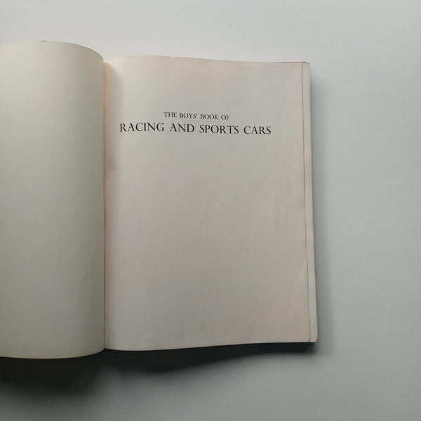 The Boys' Book of Racing and Sports Cars by Michael Marriott