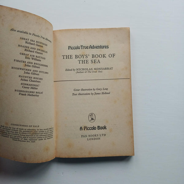 The Boys' Book of the Sea by Nicholas Monsarrat (ed)