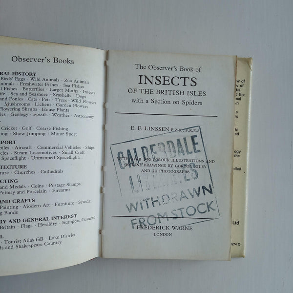 The Observer's Book of Insects of the British Isles by E. F. Linssen