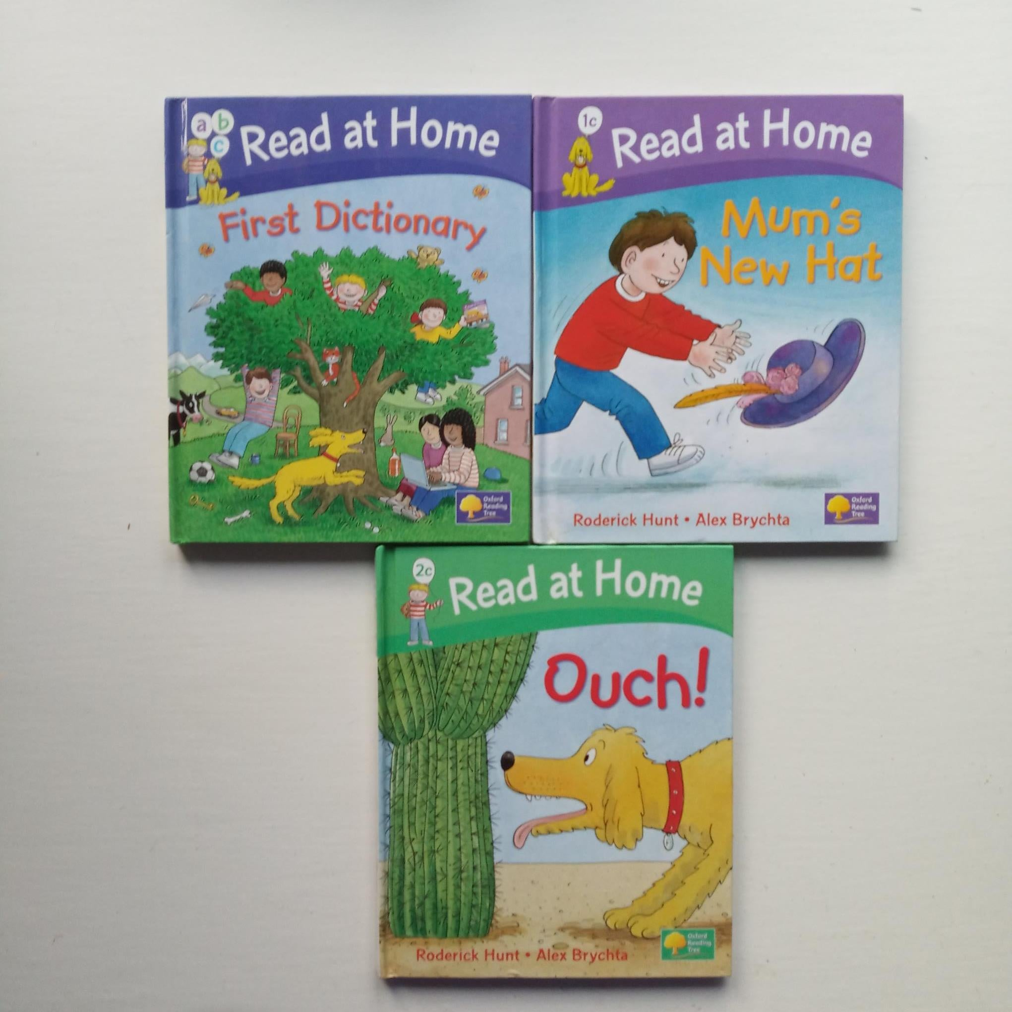 Biff Chip and Kipper Read at Home Books by Roderick Hunt