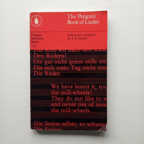 The Penguin Book of Lieder by S.S. Prawer (ed)