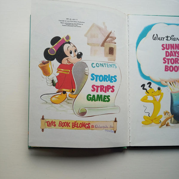 Walt Disney's Sunny Days Story Book by Walt Disney Productions