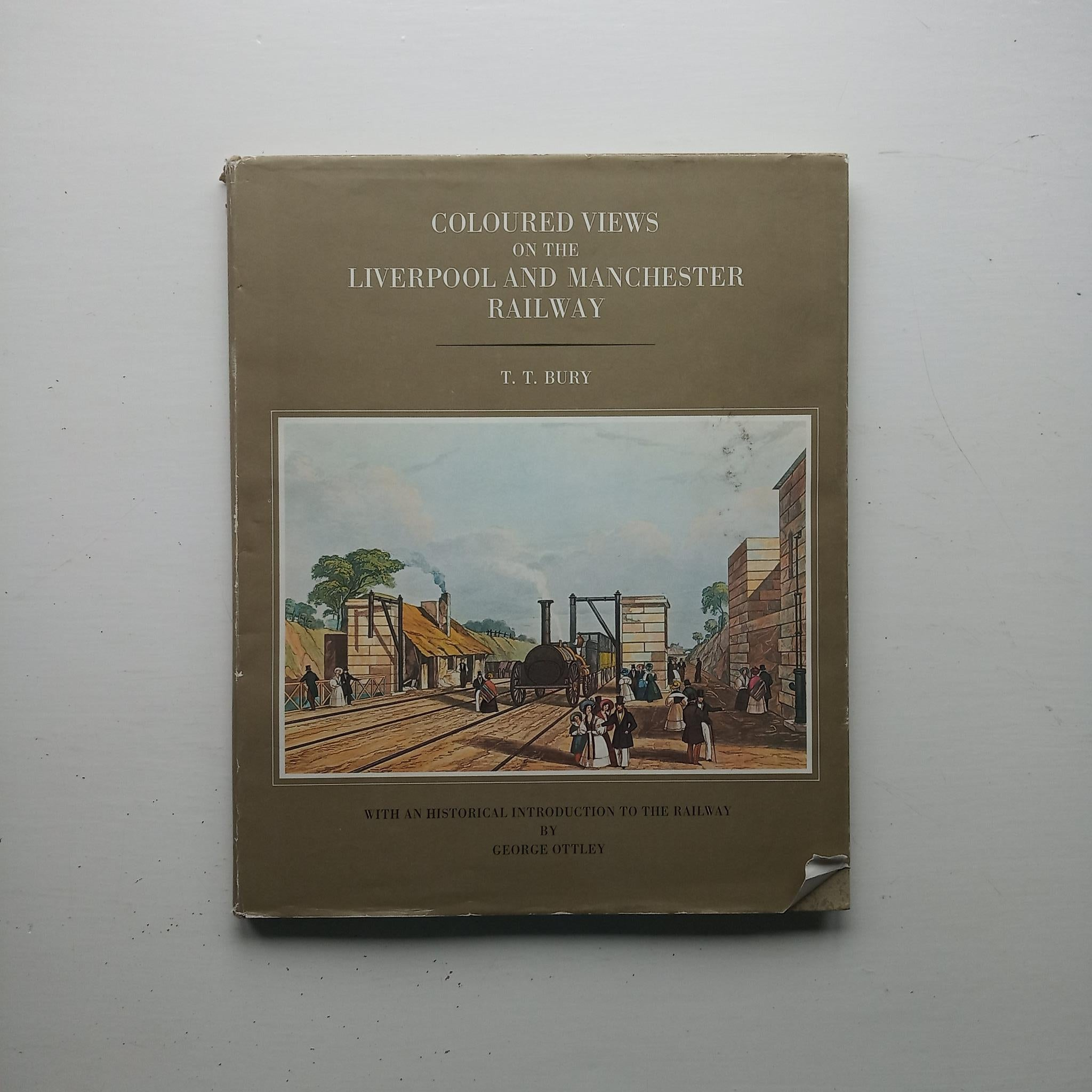 Coloured Views on the Liverpool and Manchester Railway by George Ottley