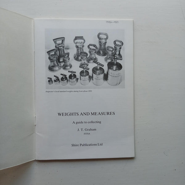Weights and Measures by J.T. Graham