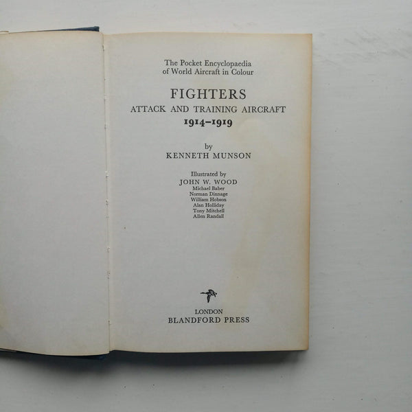Fighters 1914-19 by Kenneth Munson