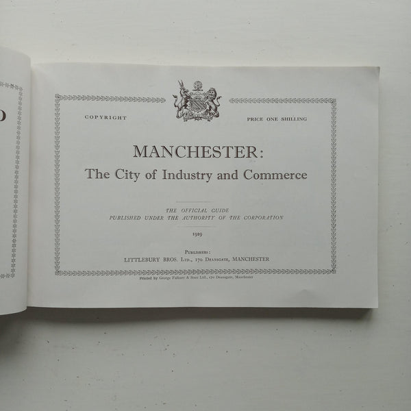 Manchester: The City of Industry and Commerce by Manchester Corporation