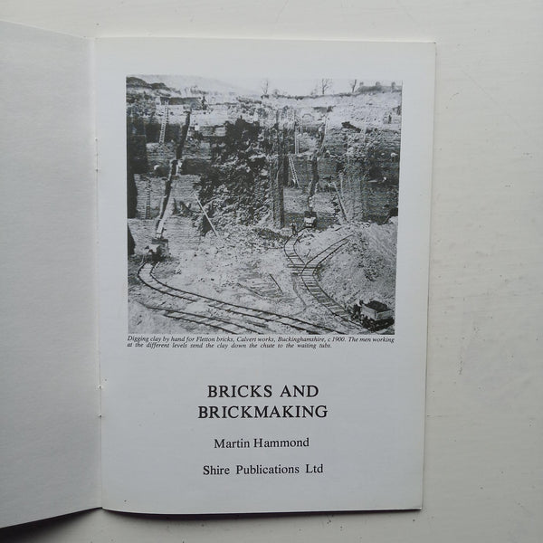 Bricks and Brickmaking by Martin Hammond