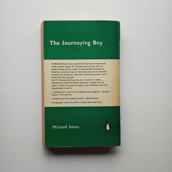 The Journeying Boy by Michael Innes