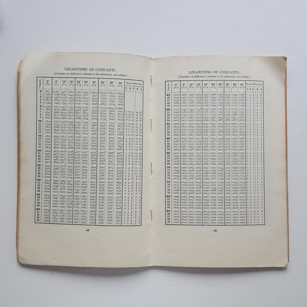 Four Figure Mathmatical Tables by Frank Castle