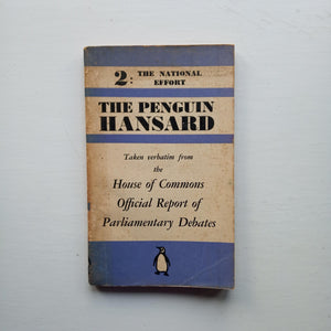 The Penguin Hansard #2 The National Effort by