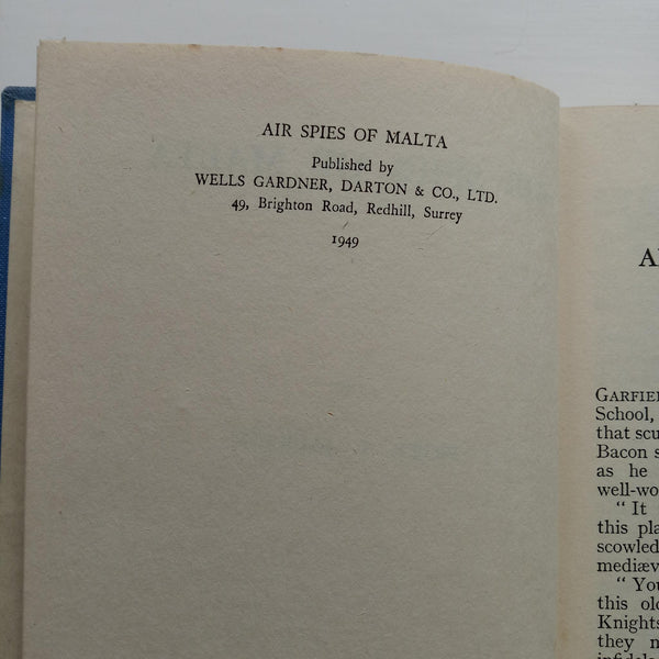 Air Spies of Malta by Peter T. Jackson