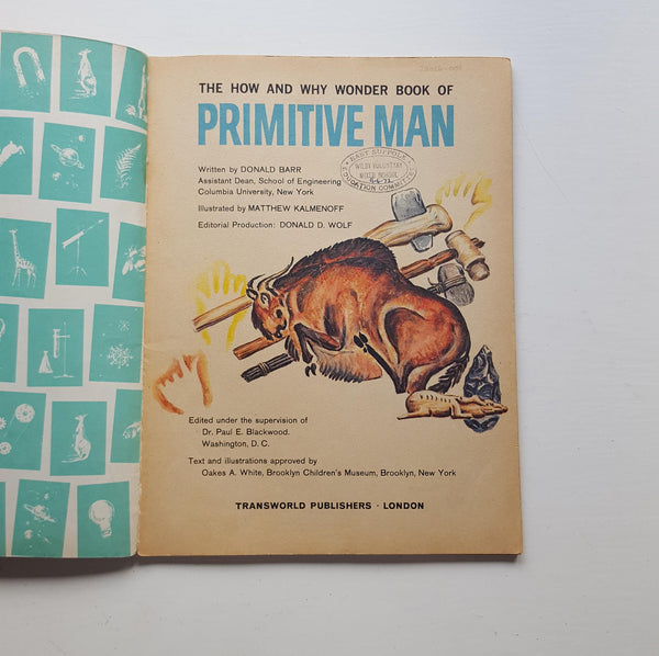 The How and Why Wonder Book of Primitive Man by Donald Barr