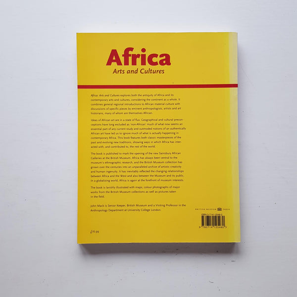 Africa Arts and Cultures by John Mack (ed)
