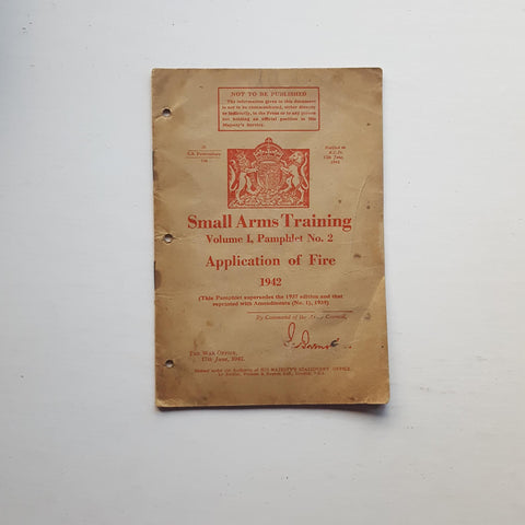 Small Arms Training: Vol 1, Pamphlet No. 2 by The War Office