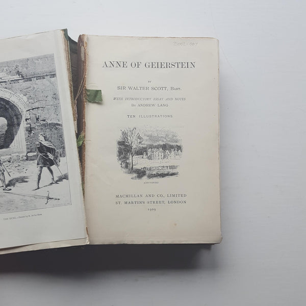 Anne of Geierstein by Sir Walter Scott