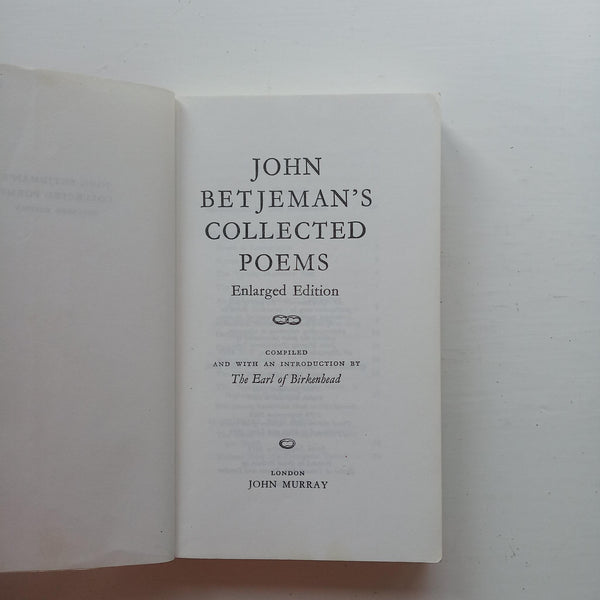 John Betjeman's Collected Poems by John Betjeman