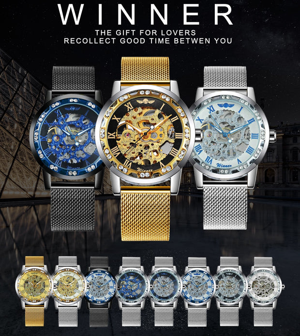WINNER Unisex Mechanical Watch.