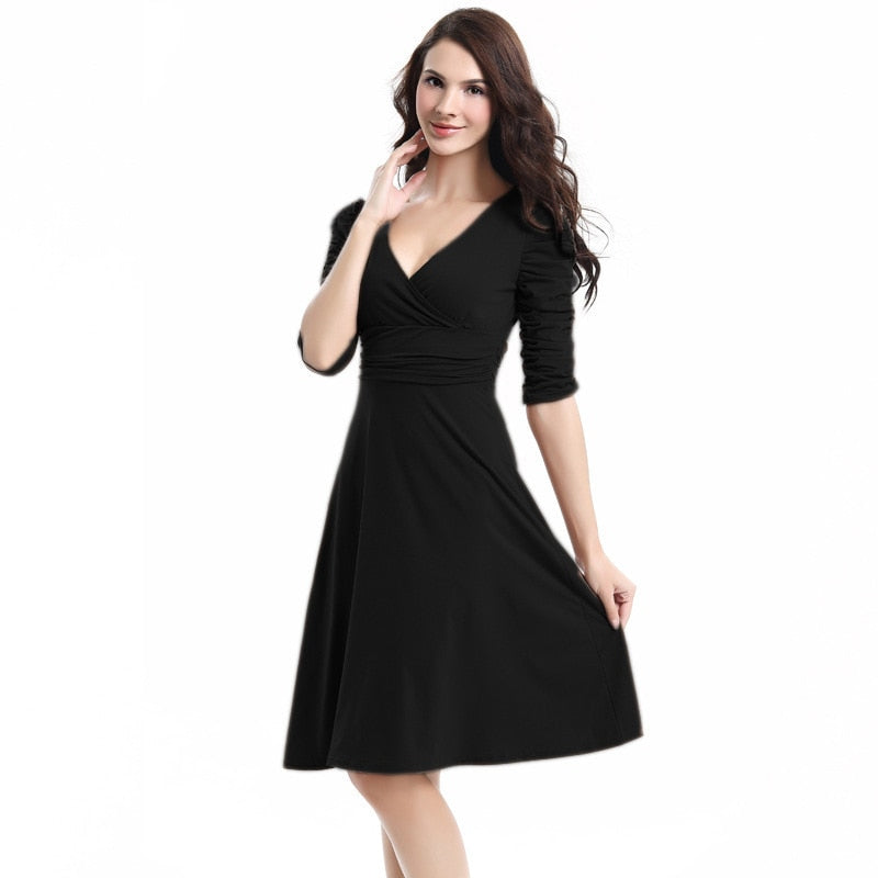 Fashion Sexy Elegant Three Quarter sleeve Dress