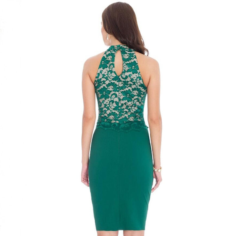 Elegant Sexy Backless O Neck Dress