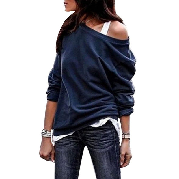 Plus Size one Shoulder Tops T-shirt