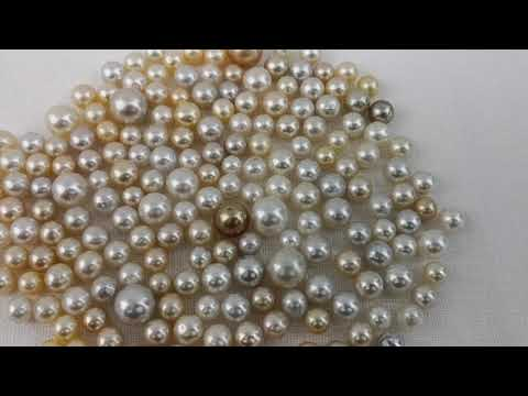 Laden und Abspielen von Videos im Galerie-Viewer, Loose South Sea Pearls Natural Color, 8-13 mm, Round Shape