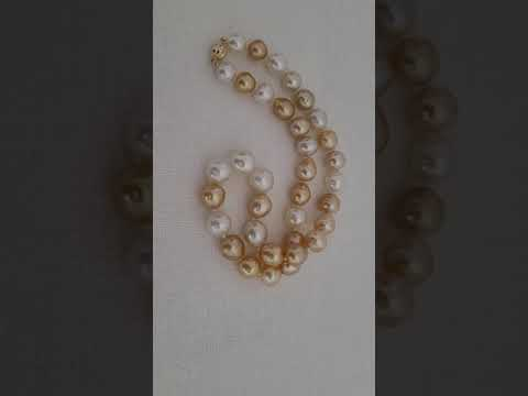 Load and play video in Gallery viewer, South Sea Pearls 10-12 mm Natural Color and Luster