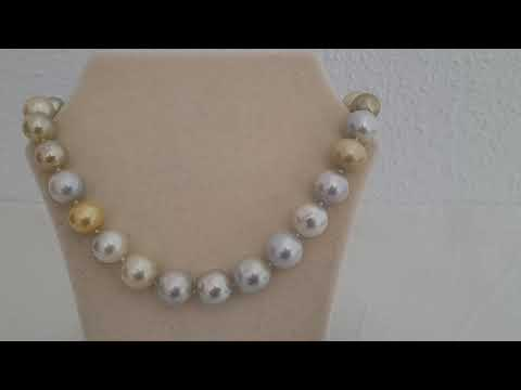 Load and play video in Gallery viewer, 12-15 mm Natural Colors South Sea Pearls