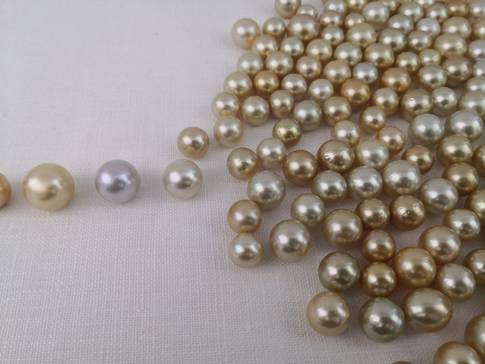 Load image into Gallery viewer, Loose South Sea Pearls Natural Color, 12-15 mm, Round Shape