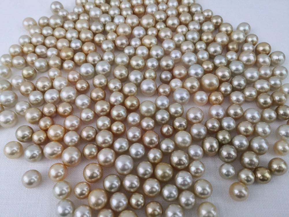 Loose South Sea Pearls Natural Color, 12-15 mm, Round Shape