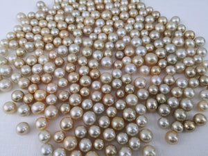 Laden Sie das Bild in den Galerie-Viewer, Loose South Sea Pearls Natural Color, 12-15 mm, runde Form