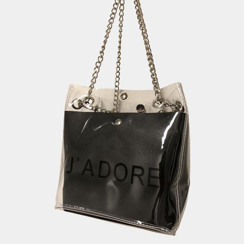 J'Adore Limited Clear Handbag Black