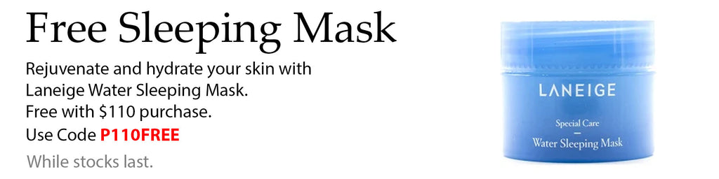 Free Laneige Water Sleeping Mask with $110 spend at Lila Beauty. Add the item to your cart and use code P110FREE at checkout to apply.
