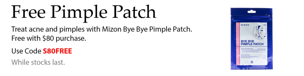 Free Mizon Bye Bye Pimple Patch with $80 spend at Lila Beauty. Add the item to your cart and use code S80FREE at checkout to apply.