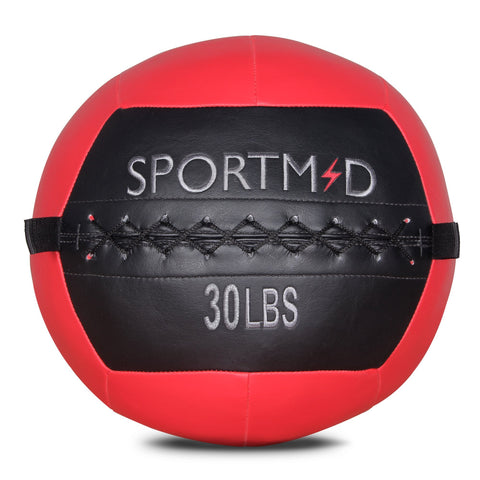 6/10/12/14/18/20/28/30LBS Soft Weighted Medicine Ball Wall Ball for Workout Red - cloudmountainproducts