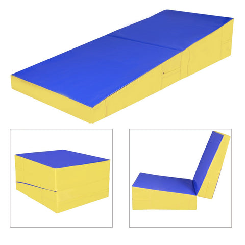 70 x30 x14 inch  Folding Incline Gymnastics Mat Ramp Cheese Wedge Tumbling Mat Slope - cloudmountainproducts