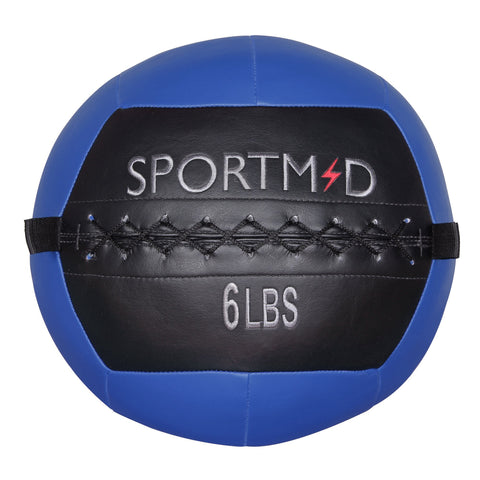 6LBS Soft Weighted Medicine Ball Wall Ball for Workout Blue - cloudmountainproducts