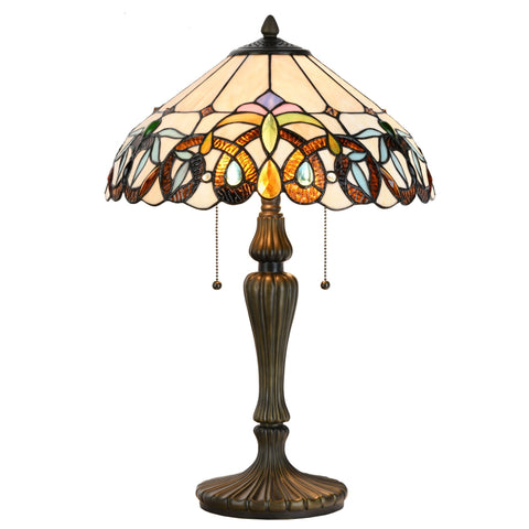 Tiffany Style Victorian Floral Stained Glass Table and Desk Light Art Decor Gift - cloudmountainproducts