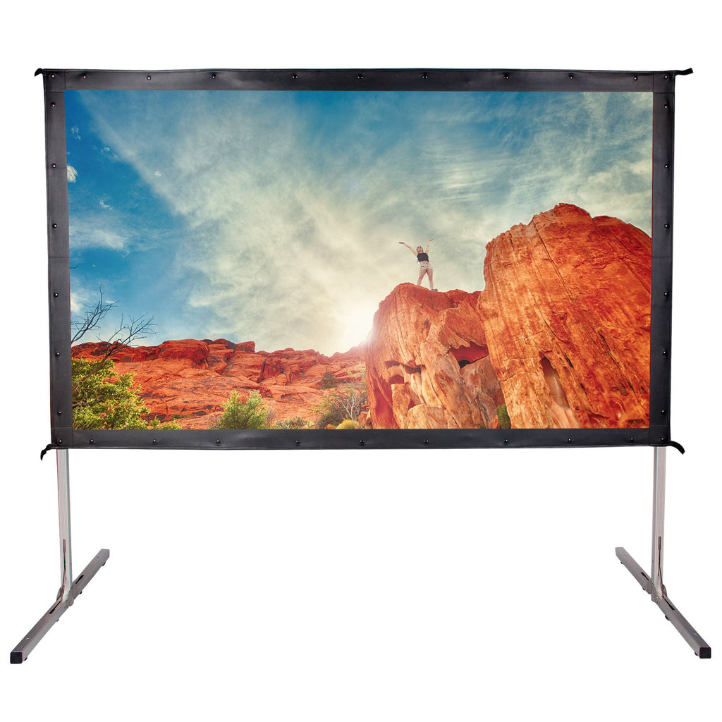 Movie Theater Projector Screen 90 inch 16:9 Ready Portable 4K Ultra Projection - cloudmountainproducts