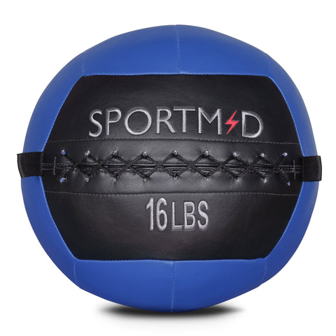 Wall Ball Soft Medicine for CrossFit Strength Training Fitness Gym Ball 16LBS - cloudmountainproducts
