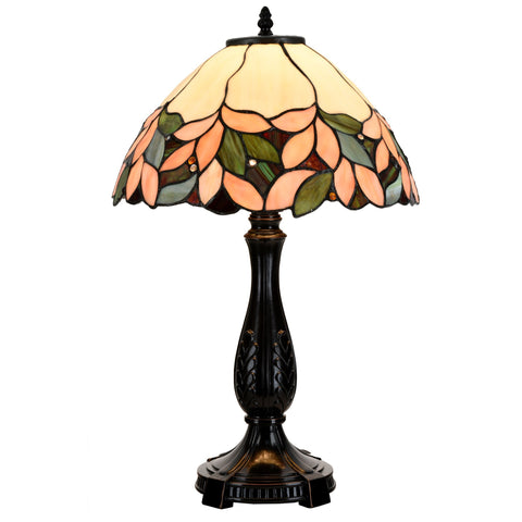 Tiffany Style Table Lamp Victorian Stained Glass Desk Lamp Floral Home Decor - cloudmountainproducts