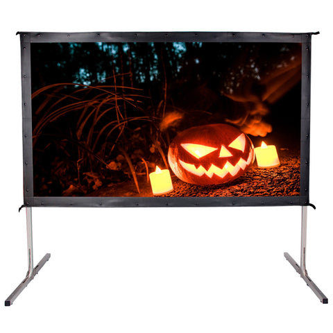 Movie Theater Projector Screen 100-inch 16:9 HD 5K Portable Projection Backyard - cloudmountainproducts