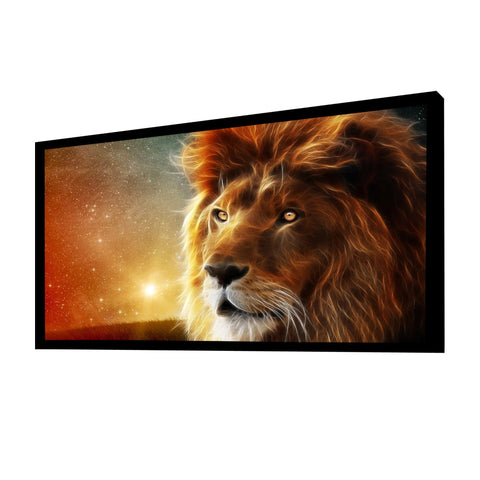 100 inches  Diagonal 16:9 Ultra Ready HDTV Fixed Frame Projector Screen White Material - cloudmountainproducts