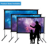 120 inches  16:9 Movie Projector Screen 6K Ultra HD Portable Foldaway Front Projection - cloudmountainproducts