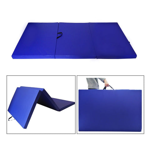 Sportmad 4 FT x8 FT x3 inches  Gymnastics Mat Thick Folding Panel Exercise PU Fitness Workout - cloudmountainproducts